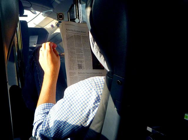 QR code, newspaper
