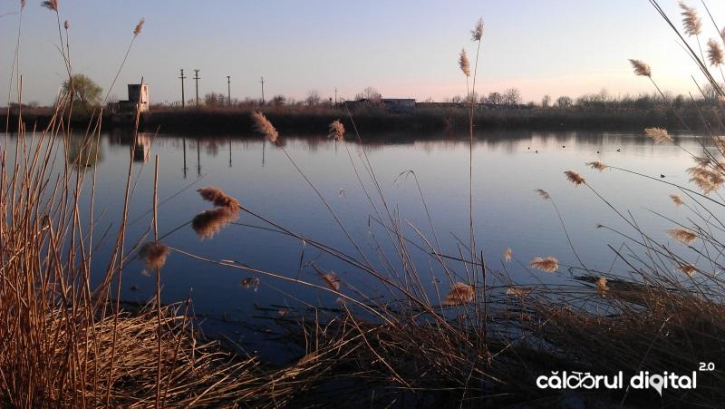 lacul pasarea, tunari, ilfov, apus
