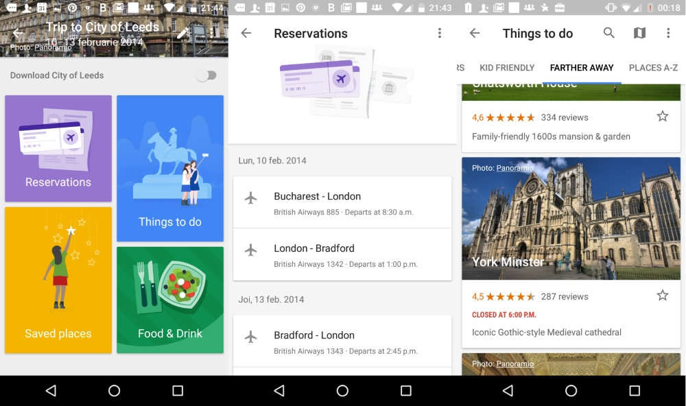 google trips, reservations