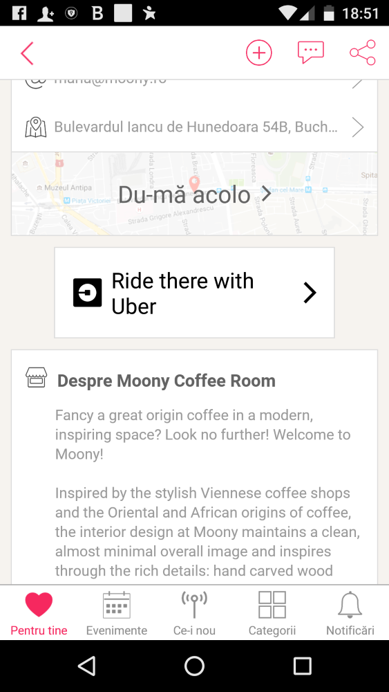 Urby App, Eventya, Uber