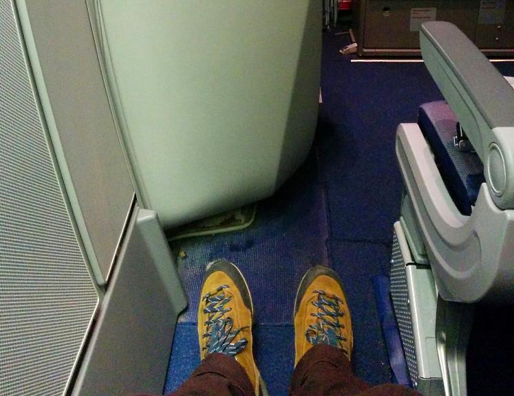 Lufthansa, LH0757, spatiu, picioare