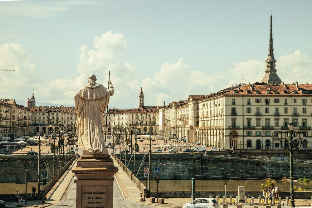 Piazza Vittorio, Torino, Italia