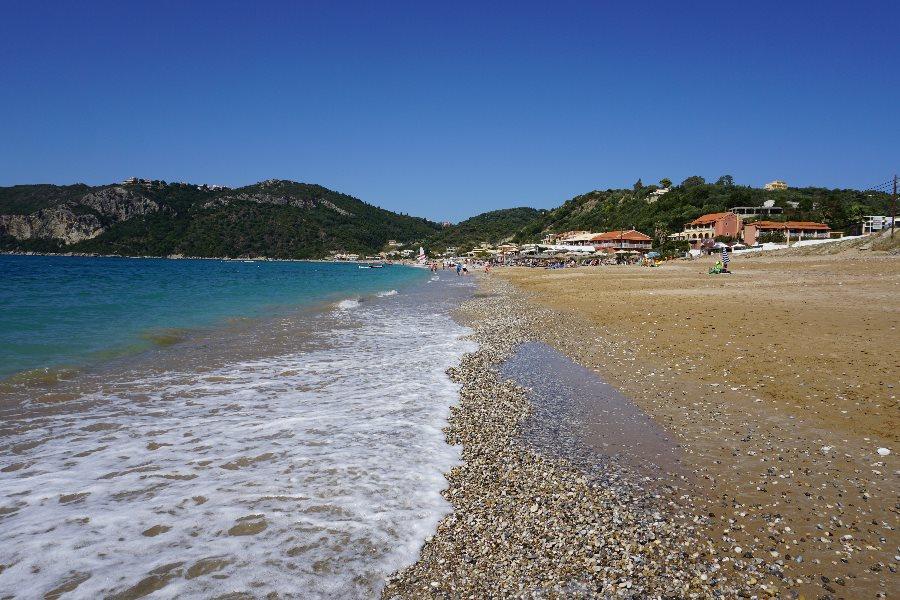 corfu, plaja, grecia, agios giorgios pagon