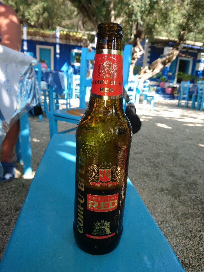 corfu red, bere, taverne corfu