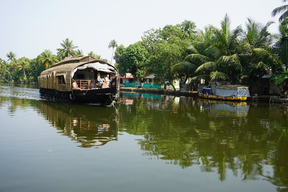 kerala, backwaters, hauseboat