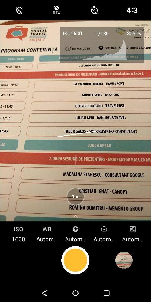 OnePlus 5T, manual mode