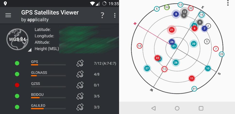 OnePlus, GPS, sateliti