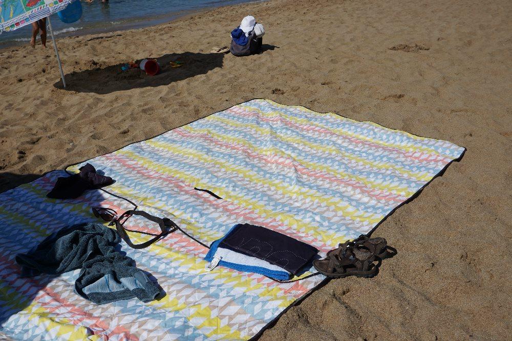 patura, picnic, nisip