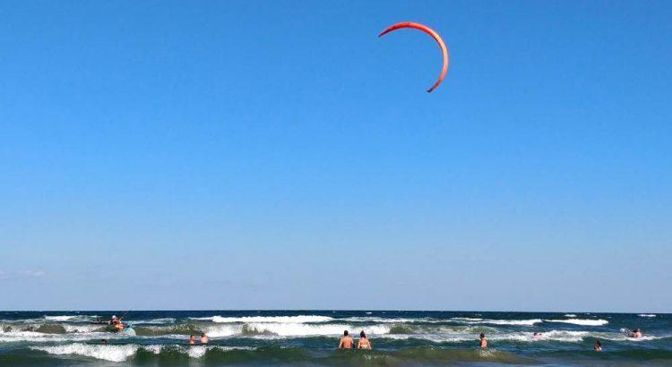 plaja, mamaia sat, navodari, kiteboarding